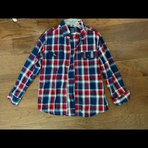 Faded Glory Flannel Long Sleeve Plaid Shirt